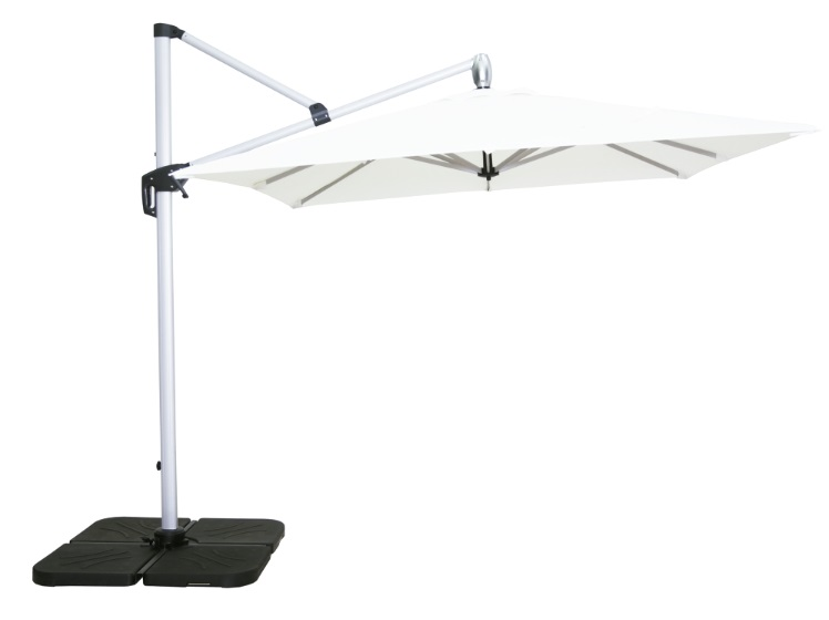Parasol Lateral blanco 250 x 250 + base
