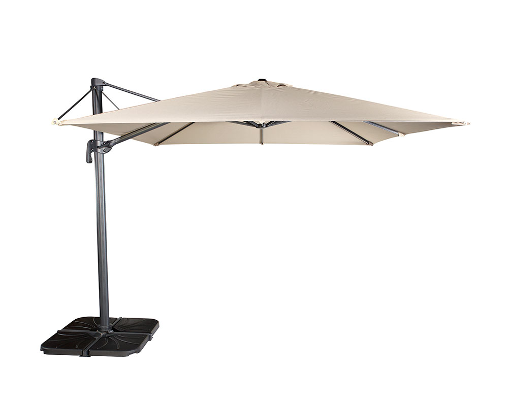 Parasol Lateral Flexo Negro 300 x 300 + base